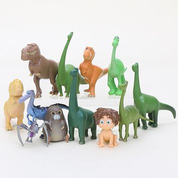 12pcs/lot Arlo Spot The Good Dinosaur Miniatures PVC Action Figures Dinosaurs Movie Figurines Set Science Hobby Kids Toys