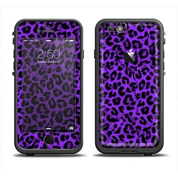 The Vibrant Violet Leopard Print Apple iPhone 6 LifeProof Fre Case Skin Set