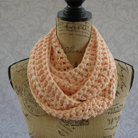 Ready To Ship Infinity Scarf Peach Women's Accessory Infinity Pastel Long Skinny Scarf