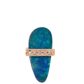 Diamond, opal & rose-gold earring | Jacquie Aiche | MATCHESFASHION.COM UK