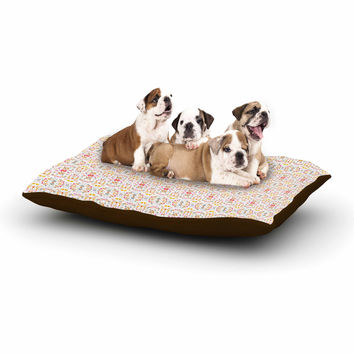 "Carolyn Greifeld ""Bright Modern Shabby"" Pink Pattern Dog Bed"