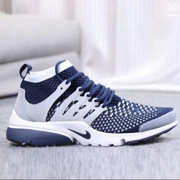 Nike Air Presto Trending Women Men Personality Knit Breathable Sport Running Shoe Sneakers Blue White I-CSXY