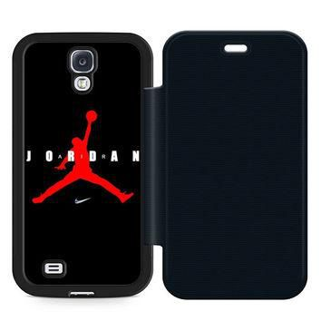 Air Jordan 23 Leather Wallet Flip Case Samsung Galaxy S4