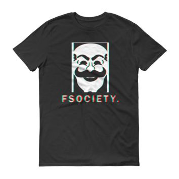 FSociety Color Seperated Mr Robot T-Shirt