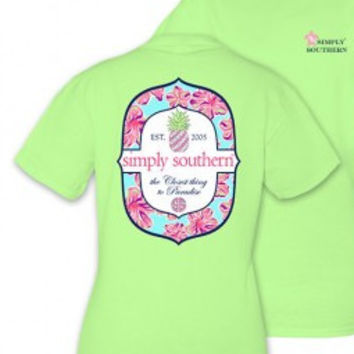 """Simply Southern """"Paradise"""" Tee - Limeaide"""