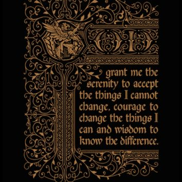 Inspirational quotes: Serenity Prayer typography poster Lion 7