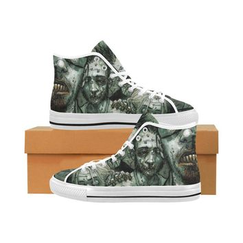 Zombie Design 1 Vancouver High Top Canvas Men's Shoes