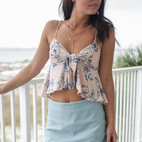 Bad Habits Seafoam Solid Skort