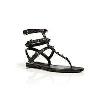Valentino - Leather Rockstud Sandals