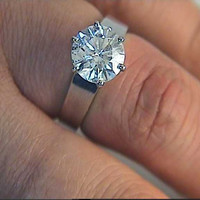 2.00ct G-SI1  Round Diamond Engagement ring 18kt White Gold JEWELFORME BLUE