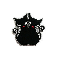 Twin Black Cat - Animal Cute New Iron On Patch Embroidered Applique Size 7cm.x7cm.