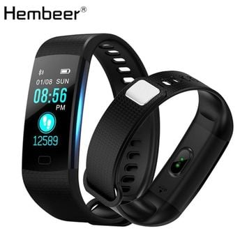 Hembeer V5 Smart Band Color Screen Blood Pressure Monitor Bracelet Fitness Tracker Heart Rate Monitor Watches pk fitbits miband2