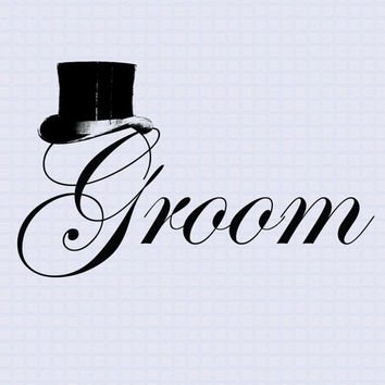 Groom printable ClipArt Wedding label from HappyHouseNo1 on - Bedroom Wall Quote Stickers