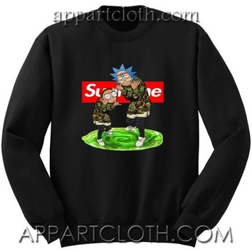 Rick and Morty Supreme Unisex Sweatshirts