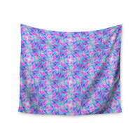 "Ebi Emporium ""Seeing Stars"" Blue Pink Wall Tapestry"