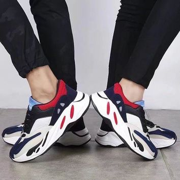 Unisex Sport Casual Fashion Multicolor Thick Bottom Sneakers Couple Running Shoes