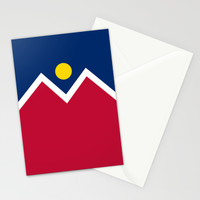 Denver (Colorado) city flag - Authentic version Stationery Cards by LonestarDesigns2020 - Flags Designs + | Society6