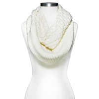 Women's Limited Edition Metallic Infinity Scarf - Ivory