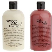 philosophy red velvet and creamy frosting 3-in-1 shower gel duo — QVC.com