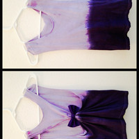 OMBRE DIPDYED racerback Tank with bow Accessorie