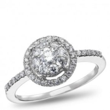 NK Mosaic Diamond Collection, 14K White Gold Diamond Engagement Ring, 5/8 ctw. - by Samuels Jewelers