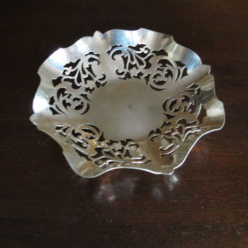 Vintage Rand Made in England Silver Dish