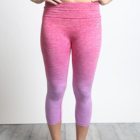 Purple Ombre Cropped Leggings