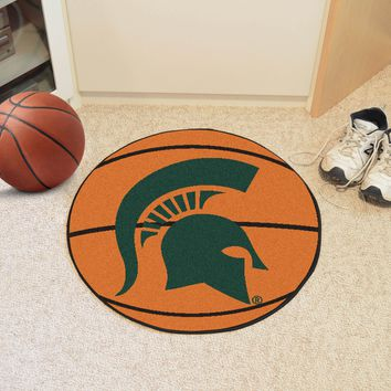"Michigan State Basketball Mat 27"" diameter"