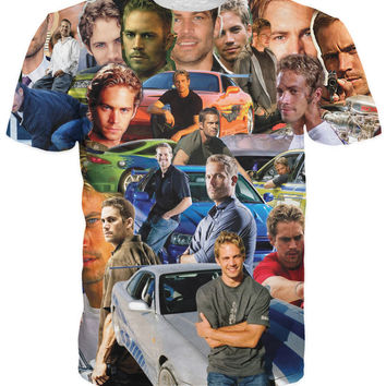 Men Women Fashion Clothes Paul Walker Paparazzi T-Shirt sexy The Fast and The Furious wonderful paul tee awesome t shirt tops