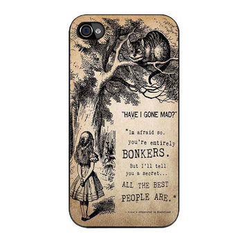 alice in wonderland bonkers case for iphone 4 4s