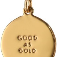 "kate spade new york ""Kate Spade Pendants"" Gold Colored Good as Gold Gets Pendant Necklace, 18"""