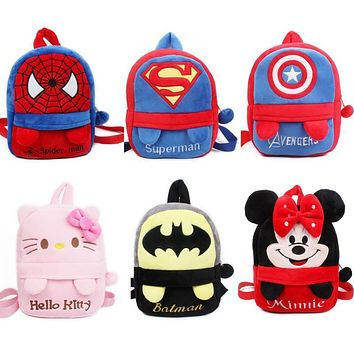High quality baby schoolbag plush backpack with foot Lovely Kindergarten boys girls School bag candy bag cute toys for kids gift