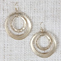 Imperfect Circles Dangle Earrings