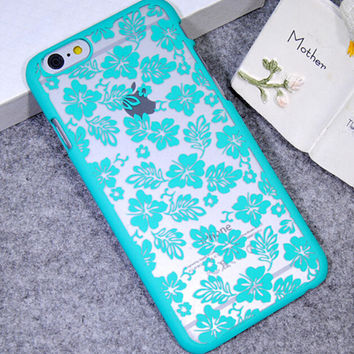 Mint Four-leaf Clover Case Cover for iPhone 5s 6 6s Plus Gift 21
