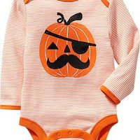 Striped Halloween Bodysuits for Baby