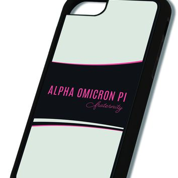 Alpha Omicron Pi iPhone Case Black
