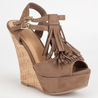 Wild Diva Kendall Wedges Taupe  In Sizes