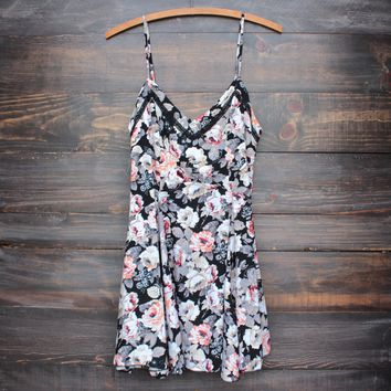 beauty queen floral fit and flare mini dress