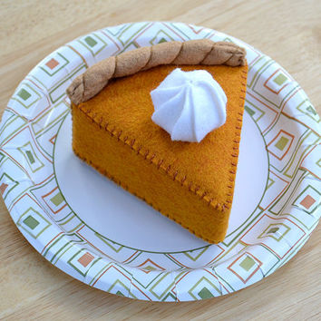 Felt Food Pumpkin Pie with Topping