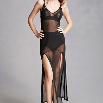 Private Academy Mesh Cami Dress