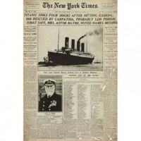 GB Eye Titanic Newspaper Poster