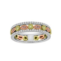 3/8ct tw Diamond Fashion Ring in 18K White Yellow and Rose Gold - Jewelry & Gifts