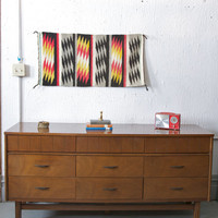Mid Century Modern 9 Drawer Dresser Credenza - Walnut - 50s 60s Mad Men