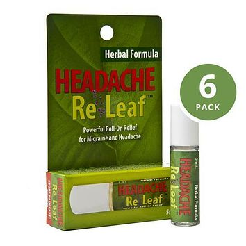 Headache ReLeaf Roll-On Aromatherapy for Headaches (6-Pack)