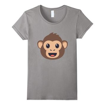 Emoji T-shirt Monkey Face Emoticon Primate Ape Wildlife