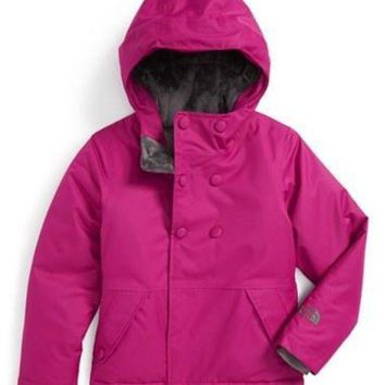 ICIKIJG The North Face Girl's 'Harmonee' Waterproof Insulated Peacoat Jacket,