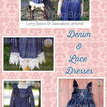 Denim and Lace Dresses*Preorder 0313*Closes: July 31st at 8pm