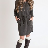Great Lengths Grey Sweater Dress