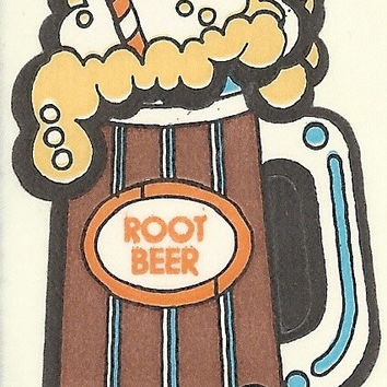 Vintage 80's Mello Smellos ROOTBEER Scratch and Sniff Sticker