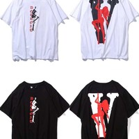 HCXX 19July 600 Vlone Friends Cotton Comfortable Short-sleeved T-shirts